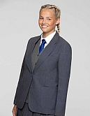 Aaaa211081-Ziggys Girls Zip Entry Blazer